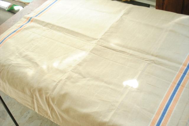 ドイツ アンティーク リネン マングルクロス 希少カラー 320x92cm 大判サイズ マンゲルクロス ファブリック テキスタイル
