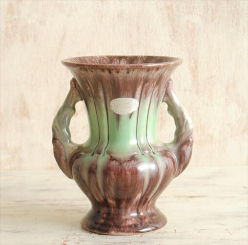 ドイツ製 ヴィンテージ S&G Keramik 陶器の花瓶 花器 一輪挿し ミッドセンチュリー期 フラワーベース アンティーク