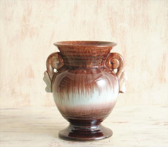 ドイツ製 ヴィンテージ Art Pottery 陶器の花瓶 花器 一輪挿し ミッドセンチュリー期 フラワーベース アンティーク
