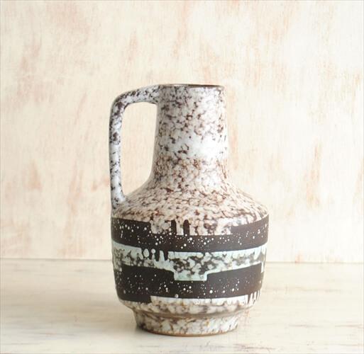 東ドイツ製 ヴィンテージ VEB Haldensleben 陶器の花瓶 花器 一輪挿し ミッドセンチュリー期 フラワーベース アンティーク