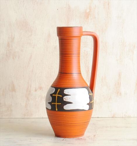 西ドイツ製 ヴィンテージ Carstens 陶器の花瓶 花器 一輪挿し ミッドセンチュリー期 フラワーベース アンティーク