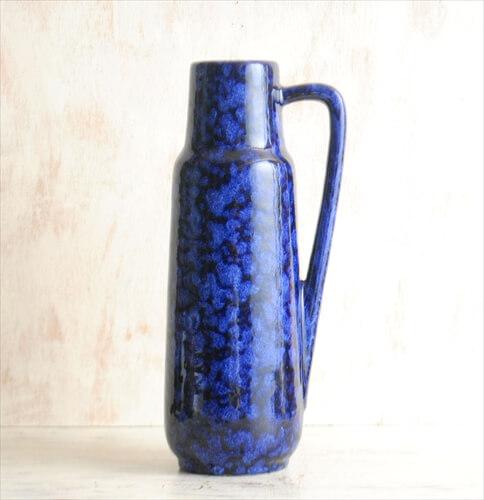西ドイツ製 ヴィンテージ Scheurich窯 陶器の花瓶 Fat Lava 花器 一輪挿し ミッドセンチュリー期 フラワーベース アンティーク