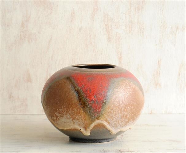 西ドイツ製 ヴィンテージ Ruscha Keramik 陶器の花瓶 Fat Lava 花器 一輪挿し ミッドセンチュリー期 フラワーベース アンティーク
