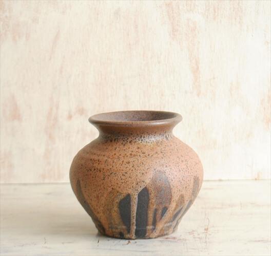 西ドイツ製 ヴィンテージ Steuler 陶器の花瓶 Fat Lava 花器 一輪挿し ミッドセンチュリー期 フラワーベース アンティーク