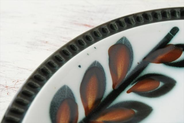 ベルギー製 BOCH ボッホ Rambouilllet ランブイエ 磁器 ケーキプレート 18.7cm お皿 陶器 アンティーク 食器 ヨーロッパ