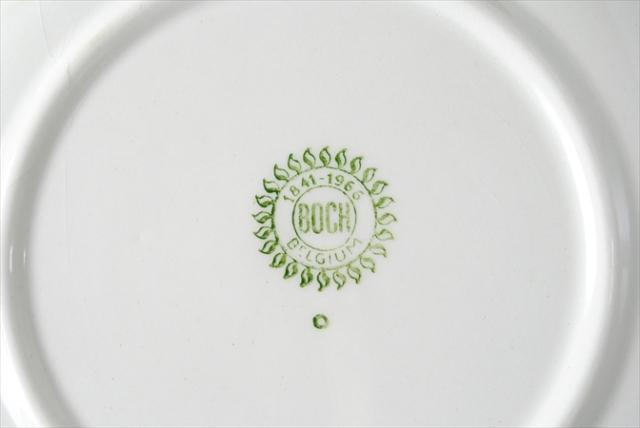 1960年代 ヴィンテージ BOCH ボッホ 磁器 ケーキプレート 19cm お皿 陶器 アンティーク 食器 ヨーロッパ