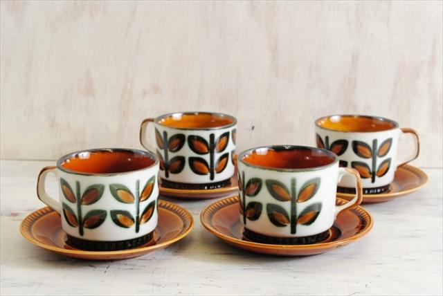 ベルギー製 BOCH ボッホ Rambouilllet ランブイエ コーヒーカップ&ソーサー 磁器 陶器 アンティーク 食器 ヨーロッパ