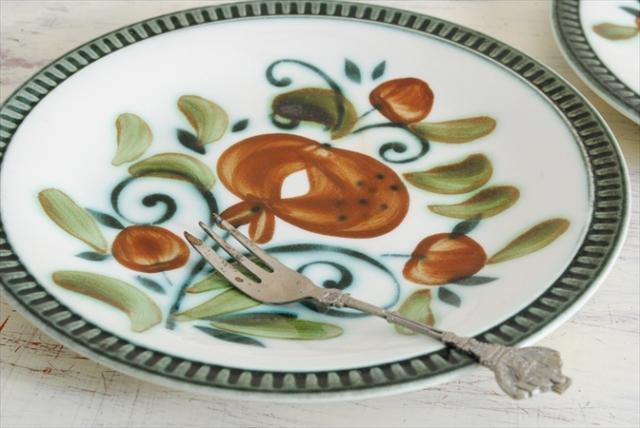 ベルギー製 BOCH ボッホ Argenteuil アルジャントゥイユ デザートプレート お皿 磁器 18.7cm プレート 陶器 アンティーク