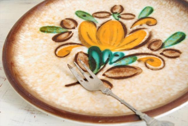 ベルギー製 BOCH ボッホ Corfou コルフ デザートプレート お皿 20.5cm サラダプレート 磁器 陶器 アンティーク