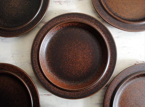 ARABIA アラビア ルスカ 25.5cm プレート お皿 Ruska 北欧食器 フィンランド 陶器  北欧 ヴィンテージ アンティーク_180120