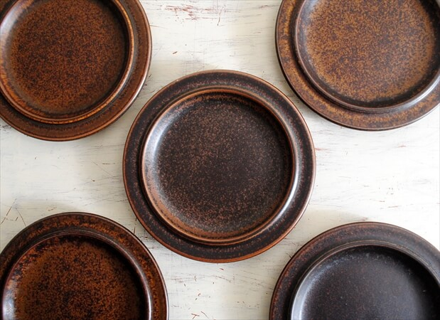 ARABIA アラビア ルスカ 16cm プレート お皿 Ruska 北欧食器 フィンランド 陶器  北欧 ヴィンテージ アンティーク_180120