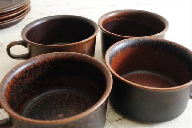 ARABIA アラビア ルスカ ティーカップ&ソーサー Ruska 北欧食器 フィンランド 陶器 北欧 ヴィンテージ アンティーク