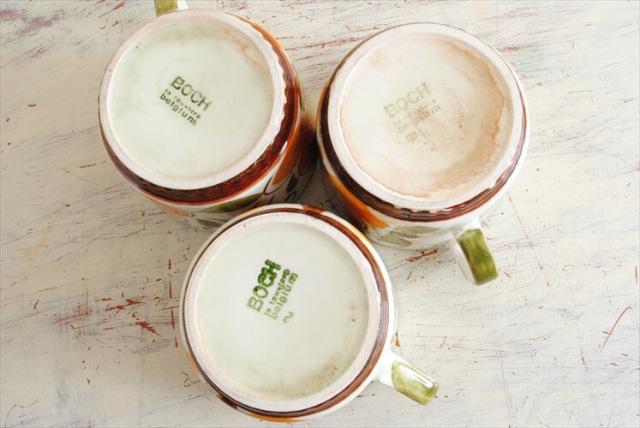 ベルギー製 BOCH ボッホ PARADISO コーヒーカップ&ソーサー パラディソ 磁器 陶器 アンティーク ヴィンテージ 食器