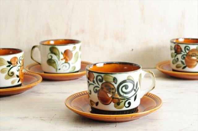 ベルギー製 BOCH ボッホ Argenteuil カップ&ソーサー アルジャントゥイユ 磁器 陶器 アンティーク