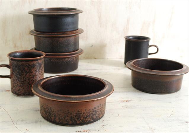 ARABIA アラビア ルスカ 13cm ココットボウル 深皿 Ruska ラムカン 北欧食器 フィンランド 陶器 北欧 ヴィンテージ アンティーク