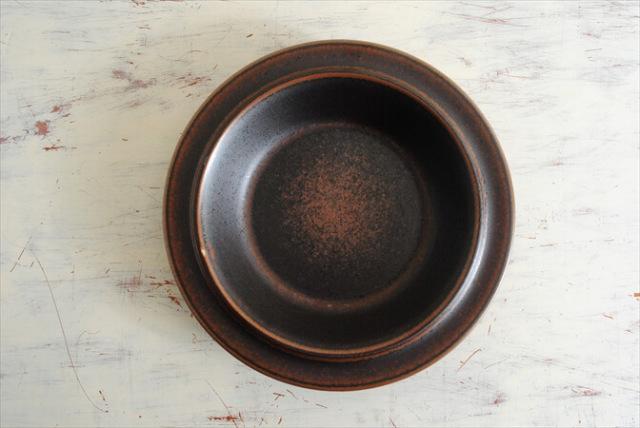ARABIA アラビア ルスカ 20cm ディーププレート 深皿 Ruska 北欧食器 フィンランド 陶器 北欧 ヴィンテージ アンティーク