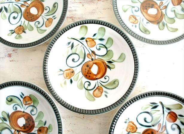 ベルギー製 BOCH ボッホ Argenteuil 20cm ディーププレート アルジャントゥイユ 深皿 磁器 陶器 アンティーク_190426
