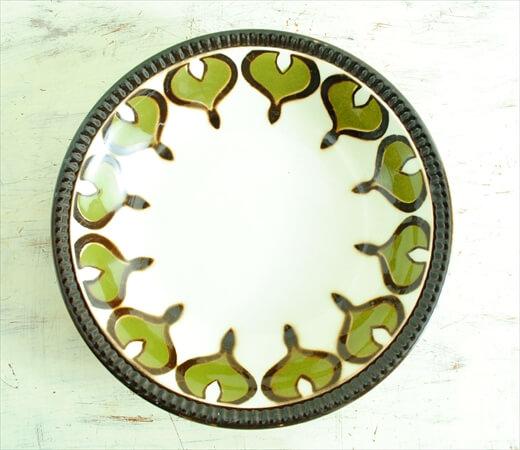 ベルギー製 BOCH ボッホ 20cm ディーププレート スーププレート 深皿 磁器 陶器 アンティーク