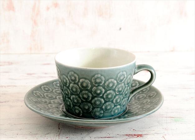 デンマーク製 クイストゴー アズール コーヒーカップ&ソーサー Azur クロニーデン KRONJDEN J.H.Quistgaard 北欧 アンティーク