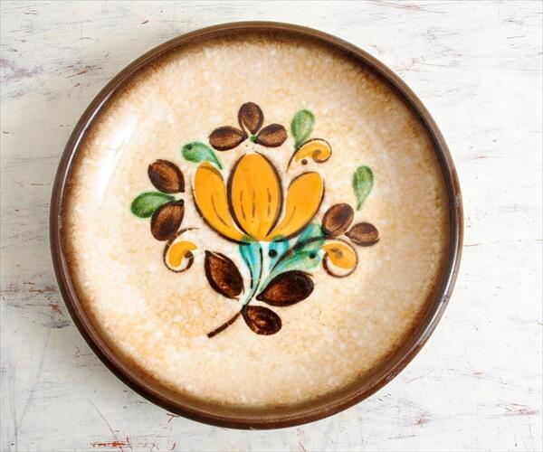 ベルギー製 BOCH ボッホ Corfou コルフ スーププレート 21cm スープ皿 磁器 陶器 アンティーク ヴィンテージ
