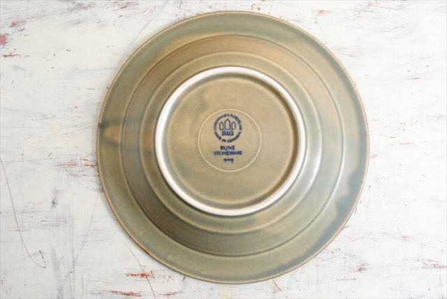 デンマーク製 クイストゴー RUNE 21cm スーププレート B&G J.H.Quistgaard 深皿 北欧ヴィンテージ アンティーク