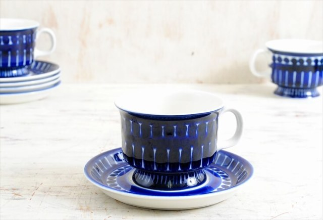 ARABIA アラビア バレンシア コーヒーカップ&ソーサー Valencia 北欧食器 フィンランド 陶器 北欧 ヴィンテージ アンティーク