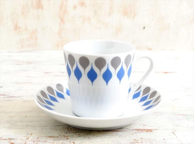 デンマーク製 Lyngby Porcelain Dan-ild 66 カップ&ソーサー リュンビューポーセリン 陶磁器 北欧食器 ヴィンテージ アンティーク