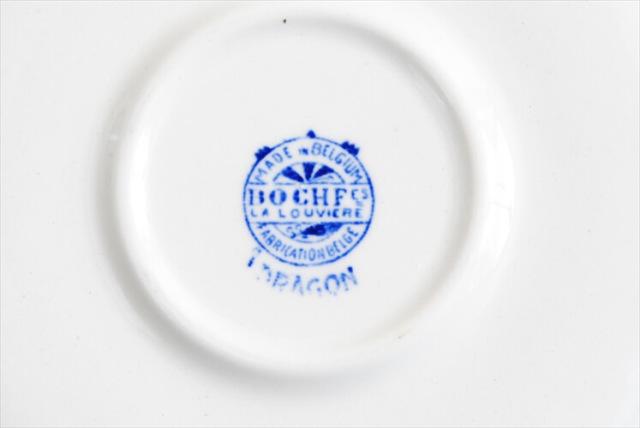 訳あり 1920-30年代 BOCH ボッホ DRAGON コーヒーカップ&ソーサー ドラゴン 磁器 アンティーク