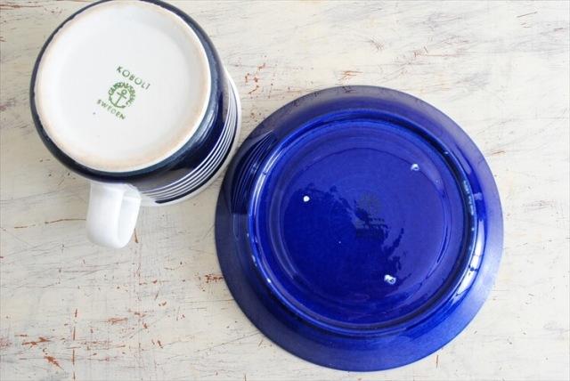 グスタフスベリ KOBOLT コーヒーカップ&ソーサー GUSTAVSBERG コバルト スウェーデン 北欧食器 磁器 アンティーク