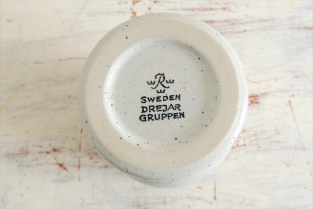 スウェーデン製 RORSTRAND ゴブレット Drejar Gruppen 陶器 北欧花器 ワイングラス タンブラー ロールストランド アンティーク