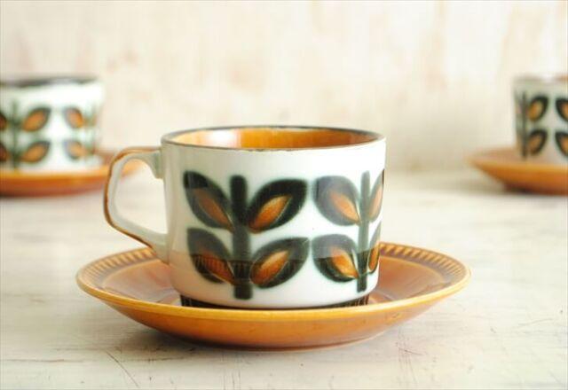 訳あり ベルギー製 BOCH ボッホ Rambouilllet ランブイエ コーヒーカップ&ソーサー 磁器 陶器 アンティーク 食器 ヨーロッパ