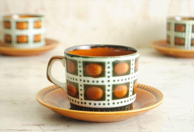 訳あり 1960年代 BOCH ボッホ Bernadette コーヒーカップ&ソーサー ベルナデッタ 磁器 アンティーク