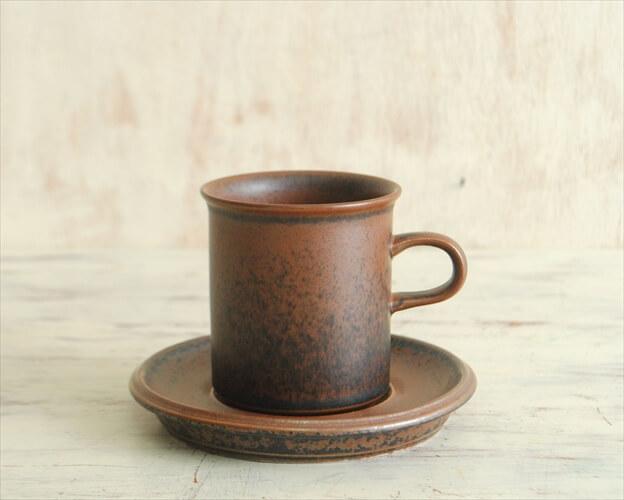 ARABIA アラビア ルスカ カップ&ソーサー Ruska 北欧食器 フィンランド 陶器 北欧 アンティーク
