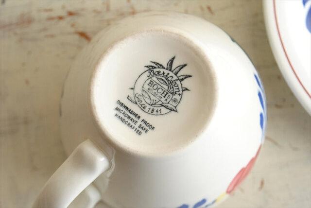ベルギー製 BOCH ボッホ BOERENBONT カップ&ソーサー 磁器 ヴィンテージ 食器 アンティーク