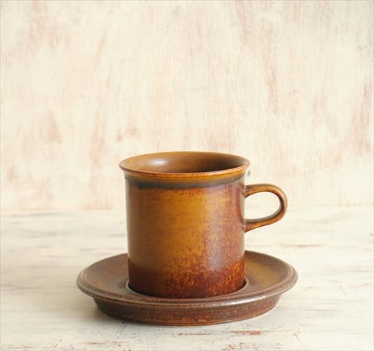 ARABIA アラビア ルスカ マグカップ&ソーサー Ruska 北欧食器 フィンランド 陶器 北欧 ヴィンテージ アンティーク