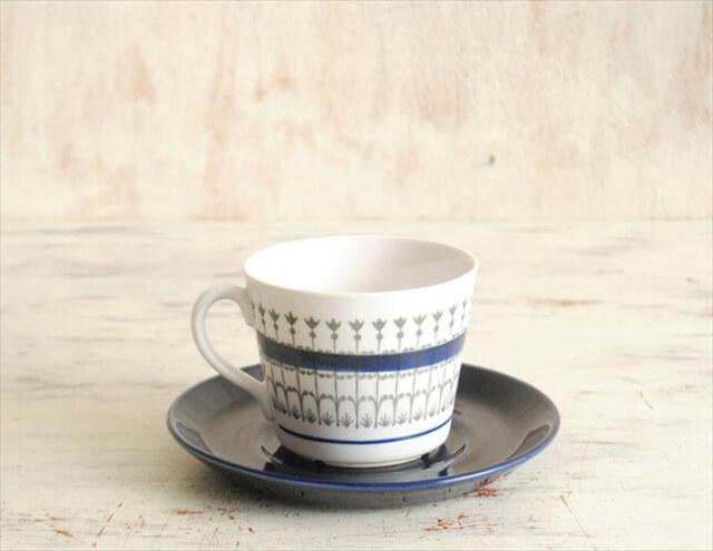 スウェーデン製 Upsala Ekeby Gefle Smide カップ&ソーサー スミーデ 北欧食器 磁器 陶器 アンティーク