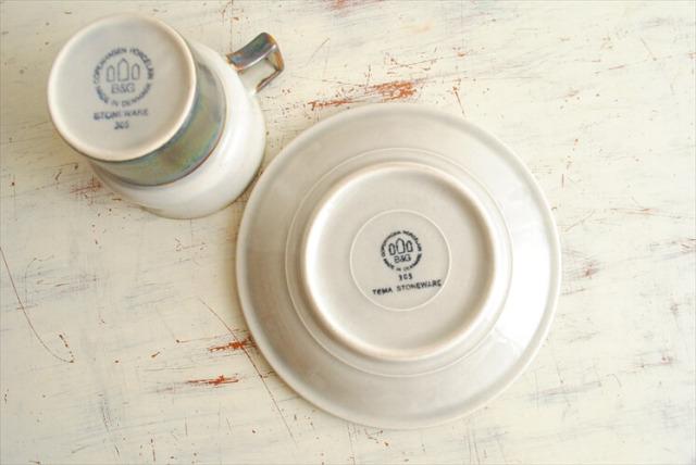デンマーク製 クイストゴー TEMA カップ&ソーサー B&G Bing & Grondahl J.H.Quistgaard 北欧ヴィンテージ アンティーク