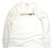 calmaart ロゴ ピグメント加工 LS 長袖Tシャツ 2色展開