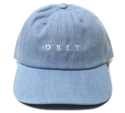 OBEY INTENTION 6パネル スナップバック CAP デニム