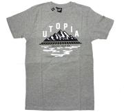 """HEKTIK """"UTOPIA"""" Tシャツ ヘザーグレー"""