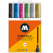 MOLOTOW ONE4ALL 227HS  メタリックセット Pump Marker 6本セット