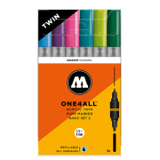 MOLOTOW ONE4ALL ツインマーカー ベーシック2 TWIN Marker 6本セット