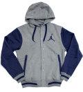 NIKE Jordan Varsity スウェットジャケット グレー/ネイビー