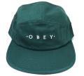 OBEY UNION 5パネル ストラップバック CAP ダークティール