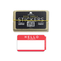 限定アイテム ''EGGSHELL STICKER'' RED Hello My Name Is Blanks -50枚入り