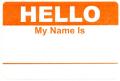 HELLO ステッカー オレンジ 20枚セット