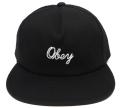 OBEY STRATFORD スナップバック CAP ブラック