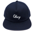 OBEY NEEDLELOGO スナップバック CAP ネイビー