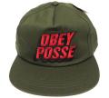 OBEY 3D POSSE ししゅう スナップバック CAP ダークアーミー