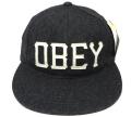 【SALE】 OBEY HANK ストラップバック 6パネルCAP ヘザーブラック